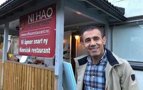 INNSPURT:Innehaver Rebin Akram utenfor det som om ikke lenge blir Ni Hao restaurant.
