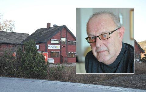 MYE ARBEID MED SALG: Varingen-bygget med styreleder Knut Kibsgård i Varingen Eiendom AS innfelt.