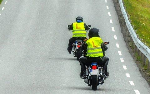 STOR PÅGANG: Etterspørselen er så stor at ikke alle som ønsker oppkjøringstime for motorsykkel kommer til å få det denne sesongen.