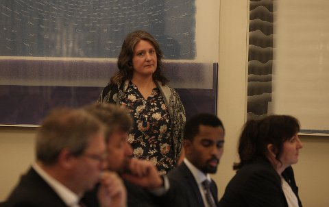 FIKK GJENNOMSLAG: Louise Brunborg-Næss i Miljøpartiet de Grønne i Venstre la frem forslag om å hjelpe på situasjonen i flyktningeleirene i Hellas. Det fikk hun gjennomslag for.