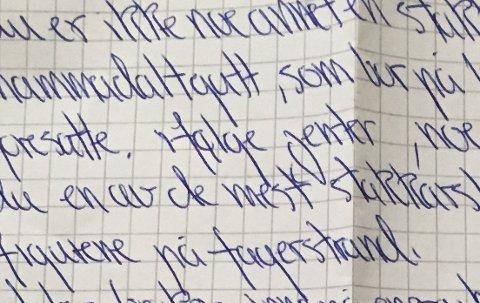 Nedsettende: En rekke anonyme brev med nedsettende formuleringer har en stund vært en snakkis på Nesodden.