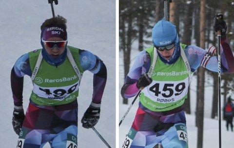 BEGGE NUMMER 14: Magnus Aasbø (til venstre) og Lars De Bartolo gikk inn til hver sin 14. plass under norgescupen i Os i Østerdalen i helgen. Det var nye bestenoteringer av gjersdølingene.
