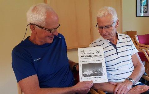 FØRSTE: Det første nummeret som Lindland og Rettedal lagte selv. Det kom ut på nyåret i 2000. Da var alt i bladet sort/hvitt. Dagens blad er alt i farger.