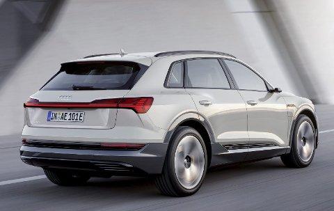 E-tron: Audi har allerede sin første elbil i salg, SUV-en E-Tron. Mot slutten av 2019 kommer produksjonsutgaven.