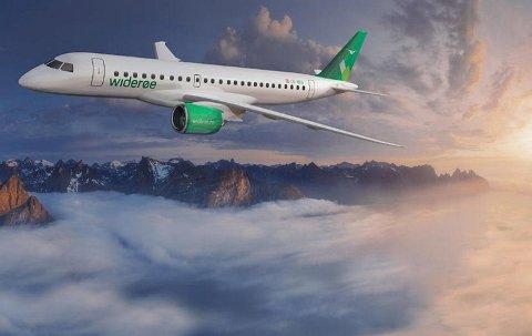 Flyet har plass til 114 passasjerer. ILLUSTRASJON: WIDERØE