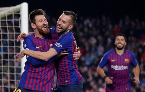 Lionel Messi er ikke med til Sevilla i kveld. Søndag var han avgjørende for Barcelona i hjemmemøtet mot Leganes. (AP Photo/Manu Fernandez)