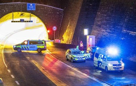 Ulykken skjedde like utenfor Løvstakktunnelen i Fyllingsdalen.