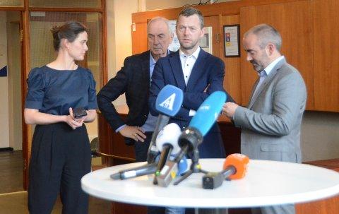 Ordførere: Kari Nessa Nordtun (t.v.), Stanley Wirak, Jarle Bø og Tom Henning Slethei er ordførerne på Nord-Jæren i henholdsvis Stavanger, Sandnes, Randaberg og Sola kommuner.