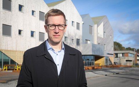 Nybygg: Sammen med ordfører Jarle Bø er varaordfører Øystein Stjern enig om at Prosjektil har mye å svare for ved framdrift og økonomi i byggeprosjektet Randaberg Helsesenter.