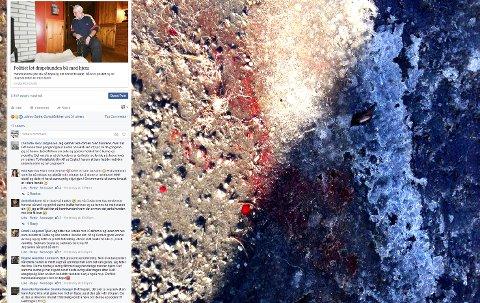 BLOD: Sporene etter den dødlige kampen er tydelige.