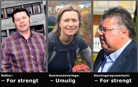 OPPGJØR: Noe må gjøres med fraværsreglene mener rektor Knut Erik Hovde (t.v.) kommuneoverlege Beate Smetbak og stortingsrepresentant Morten Wold.