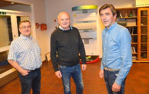 Markedssjef Trond Lindseth (t.v.), adm. direktør John-Arne Haugerud og administrasjonssjef Gjermund Rønning i Midtkraft A/S mener fusjonen vil styrke selskapet.