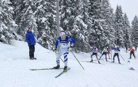 PÅ GOD VEI: Per Kristian Nygård følte det endelig fungerte på skiene igjen under kretsmesterskapet i friteknikk på Ringollen lørdag.