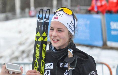 OVERRASKET: Ida Lien fra Simostranda er skiskytter, men overrasket under torsdagens distanse i langrenns-NM.