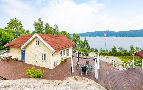 Denne hytta langs Svelvikveien er en av hyttene i nye Drammen som leies ut.