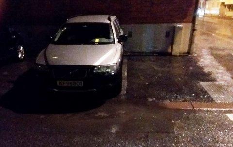ULOVLIG: Her parkerte Jan Heine Borgen i god tro. Det kostet han 900 kroner.