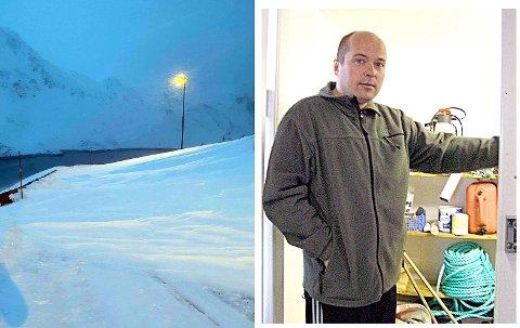 Det er mye snø og rasfare i Kamøyvær. Tor Sverre Hansen (arkivfoto) fikk storinnrykk på mandag da et helt hybelbygg måtte evakueres i Kamøyvær.
