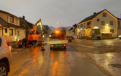 Nordvågveien i Honningsvåg.