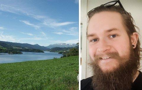 GØY PÅ LANDET: Fredrik (24) valde utradisjonellt og flytta til ein liten bygdekommune i staden for til byen.