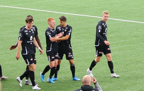 PANGSTART: Kristoffer Hoven og Kristoffer Nessø scora kvar sitt mål før to minutt var spelt i laurdagens bortemøte med Ranheim.
