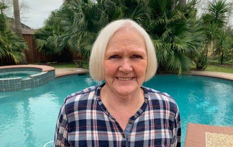 Stor kontrast: Engelsviken-damen Tove Olavesen lever nå langt unna krigens knapphet og hjemstedet Engelsviken. I over 40 år har hun og mannen Bjørn bodd i Texas, USA.