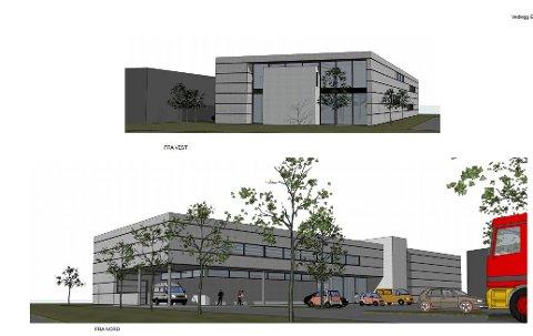 Arkitektene så for seg det planlagte nye forretningsbygget kledd i stålplater – med enkelte effekter i betong. Men Bane Nor har gitt klar beskjed om at et nybygg her kommer i konflikt med fremtidens dobbeltspor.
