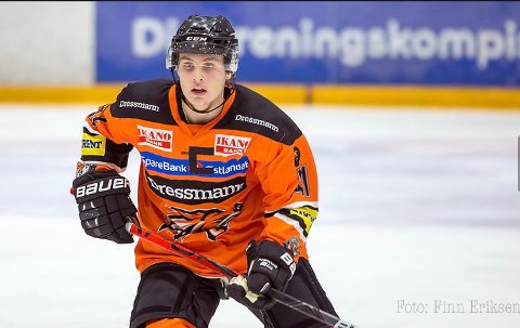 KLAR FOR NARVIK: 18 år gamle Kristoffer Fayen-Vestavik har signert for Narvik hockey.