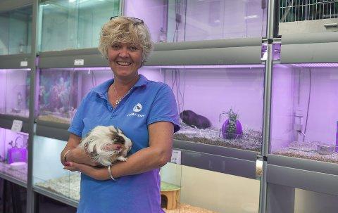 VIL TA INN REPTILER: Liv Nilsen, eier og daglig leder i Dyrebutikken Horten, legger nå til rette for å ta inn slanger, øgler og andre reptiler i butikken sin.