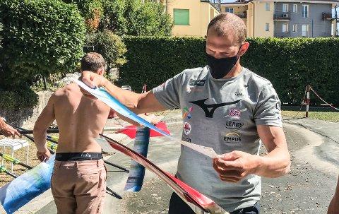 FORHOLDSREGLER: Olaf Tufte(bildet) og rolandslaget lever under et strengt smittevernregime i Italia.