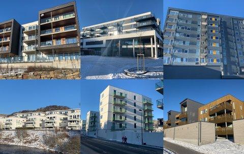De siste årene har det blitt reist flere leilighetsbygg på Ålgård, som disse i Solbakkane og i Ålgård sentrum.