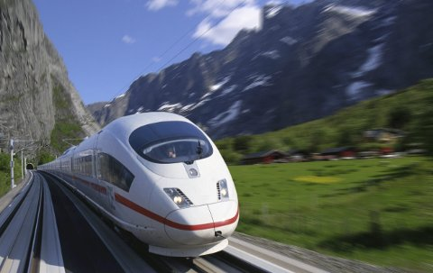 Ambisiøst prosjekt: En reise mellom Bergen og Oslo med høyhastighetsbane over Haukeli vil ta én time og 45 minutt, uten stopp. Foto: Deutsche Bahn/Norsk Bane AS