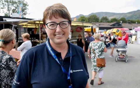 FORNØYD: Marknadsleder Anita Larsen.