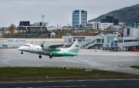 Bodø lufthavn. Arkivfoto.