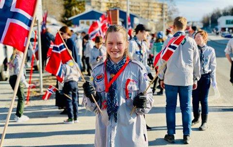 FEIRET: Speider Katrine Brenna Ellingsen (10) på fjorårets morgentog.