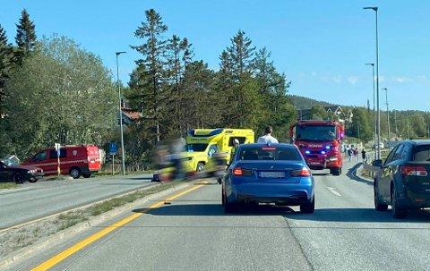 Trafikkulykke på riksvei 83 ved Ford i Harstad.