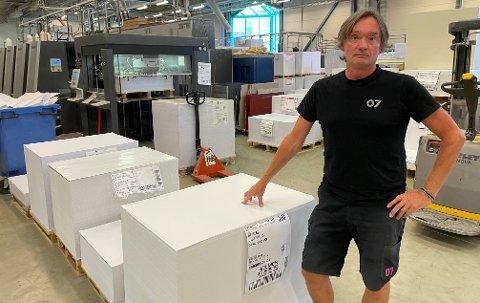 RUTINERT: Roger Kaasa har hatt 07 Media i Aurskog som arbeidsgiver de siste 36 årene.
