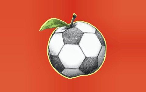 Ett eple om dagen: Kan gjøre underverker. Salget av Gullhaug IL sin eplemost har bidratt til at flere har fått ta del i fotballskolen. Illustrasjon: Marianne Karlsen