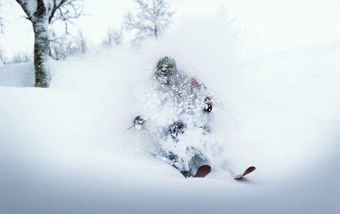 Pudder: Skisenteret utenfor Voss snør som regel ordentlig ned flere ganger i løpet av en vinter.