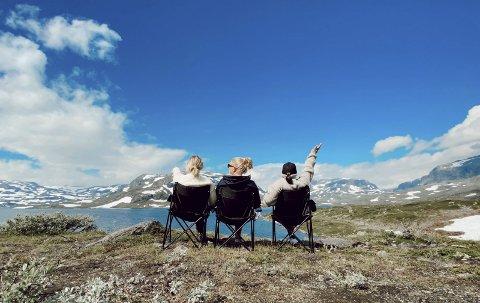MERSMAK: Norgesferie har gitt mersmak for denne gjengen. Neste tur legges til Lofoten.