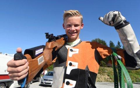 JUNIORMESTER: Jonas Wibe, Flesberg, vant juniorklassen i Viken 1-mesterskapet. (ALLE FOTO: OLE JOHN HOSTVEDT)