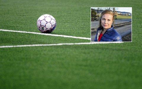 Kunstgress: Arbeiderpartiets ordførerkandidat Silje Kjellesvik Norheim ønsker kunstgressbane på Gullaug. Foto: Carina Johansen / NTB scanpix / Pål  A. Næss