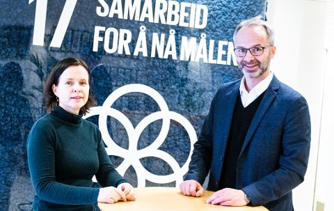 HELSESATSING: Næringssjef Maria Hoff Aanes og ordfører Jørgen Vik i Lillestrøm kommune har tro på regionen som satsingsområde for helse.