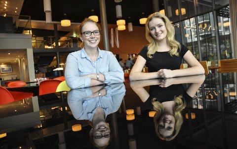 Ble kjent: Ida Elisabeth Finstad (t.v.) og Julia Sandstø gleder seg til fireårsperioden i Vestbypolitikken.Foto: Kjersti Halvorsen