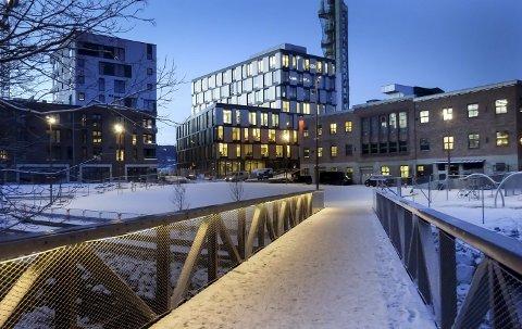 Etterlysning: Artikkelforfatter ønsker å se eksempler på det han kaller pene bygninger i Moss. Bildet er fra den nye bebyggelsen på Verket.
