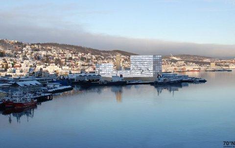 STORE PLANER: 35.000 kvadratmeter areal skal utvikles nord for Tromsø sentrum.