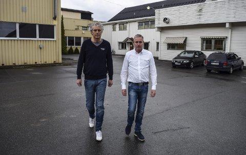 GIKK HVER SIN VEI: Styreleder Lars Mølbachs (t.v.) og fabrikksjef Roy Myhres veier skilte lag bare tre måneder etter at Myhre begynte i stillingen ved Berthas Bakerier AS i Fall.Arkivbilde