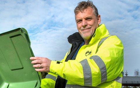 HARMONISERING: - Det skal lønne seg å kildesortere avfallet og å samarbeide med andre om felles restavfallsdunk, sier Stein Giæver i Horisont IKS.