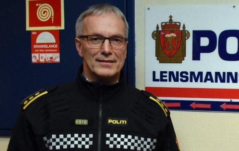 291 SØKERE: Lensmann Ole Bjerke har 291 søkere å velge blant til stilling som etterforsker.