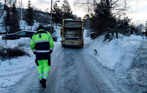 MYE PÅ EN GANG: Snø, glatte veier, kulde, mannskapsmangel og tekniske problemer skaper problemer for Horisont.