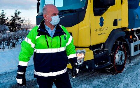 MANGE TILTAK: Horisont tar mange grep for å få avfallsinnhentingen på stell. – Innen neste vinter vil situasjonen være mye bedre, sier driftssjef John Christensen i Horisont Renovasjon AS.
